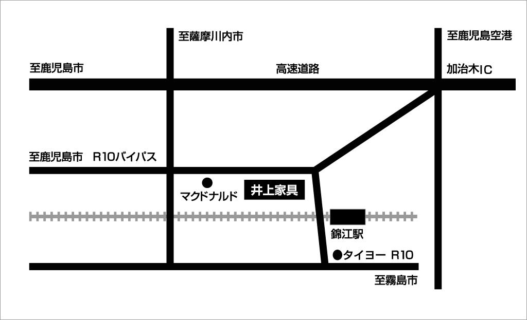 井上家具周辺地図